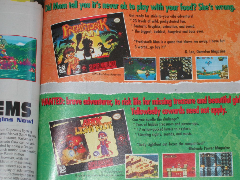 I remember seeing this tantalizing SNES ad in an EGM issue of 1996. A part of me pined for that era of gaming again