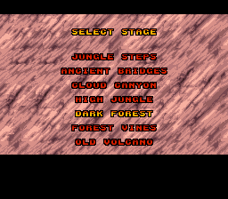 ... the level select in long non-save/password platformers!