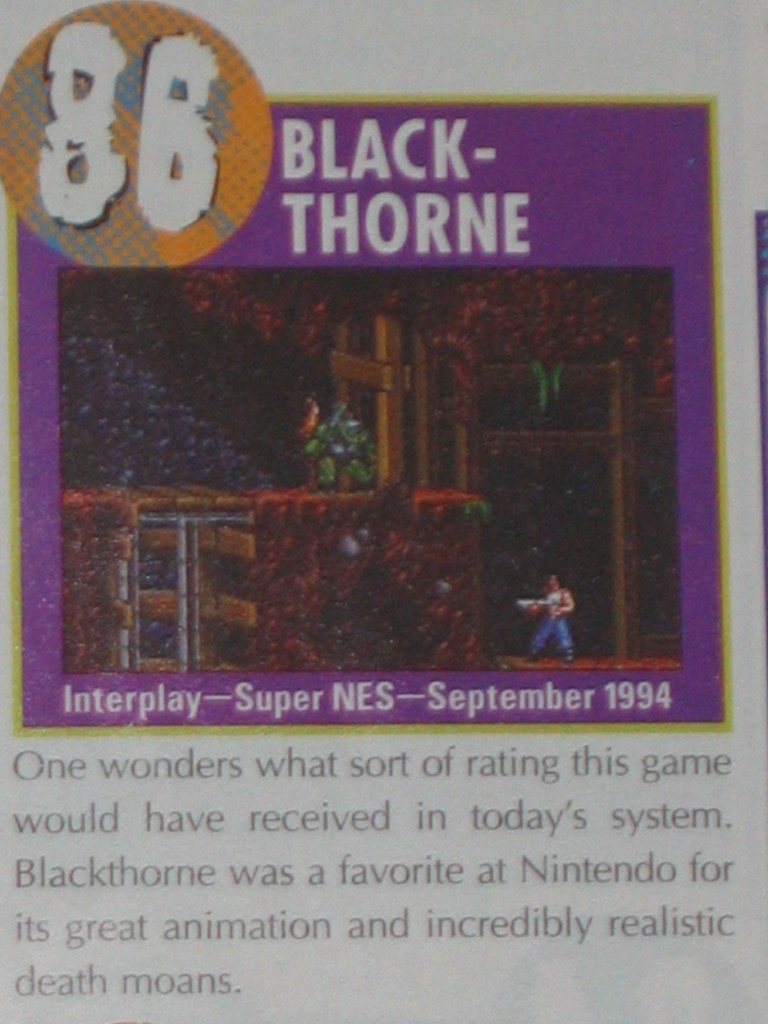 Nintendo Power named it their 86th best Nintendo game of all time (September 1997)